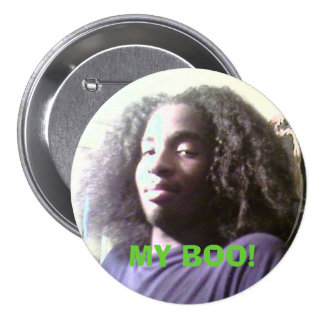 barry1, MY BOO! 7.5 Cm Round Badge