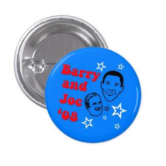 Barry and Joe '08 3 Cm Round Badge