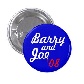 Barry and Joe '08 - Customized 3 Cm Round Badge