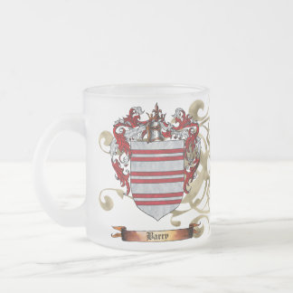 Barry Coat of Arms 10 Oz Frosted Glass Coffee Mug