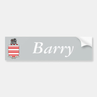 Barry Coat of Arms Bumper Sticker