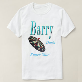 Barry, Darts Super Star, Personalize This Logo, T-Shirt
