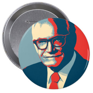 Barry Goldwater Right 10 Cm Round Badge