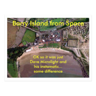 Barry Island from Space Postcard