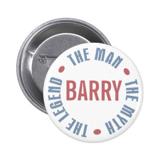 Barry Man Myth Legend Customizable 6 Cm Round Badge
