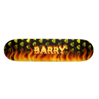 Barry skateboard fire and flames design