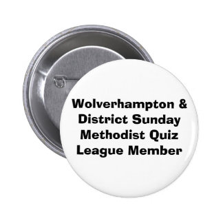 Barry's Sunday Quiz League 6 Cm Round Badge