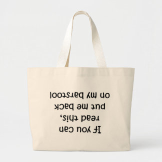 Barstool Jumbo Tote Bag
