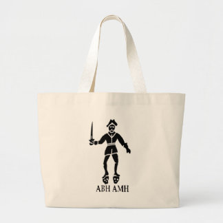 Bart Roberts #1-Black Jumbo Tote Bag