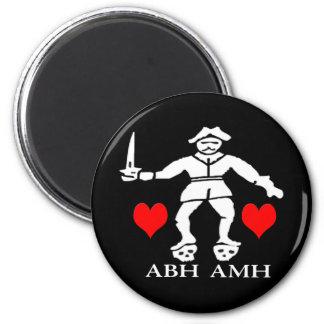 Bart Roberts #1 -Hearts 6 Cm Round Magnet