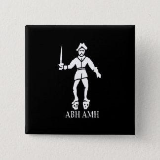 Bart Roberts #1-White 15 Cm Square Badge