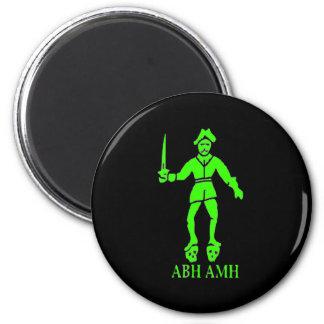 Bart Roberts #2-Green 6 Cm Round Magnet