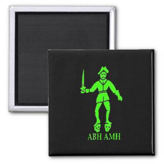 Bart Roberts #2-Green Square Magnet