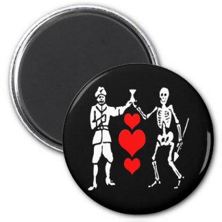 Bart Roberts #2-Hearts 6 Cm Round Magnet