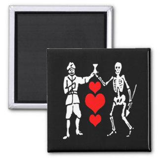 Bart Roberts #2-Hearts Square Magnet