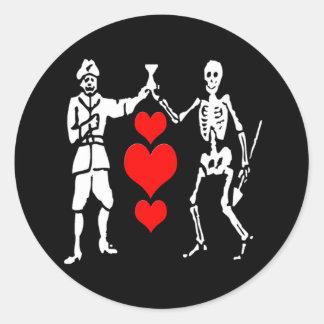Bart Roberts #2-Hearts Round Sticker