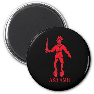 Bart Roberts #2-Red 6 Cm Round Magnet