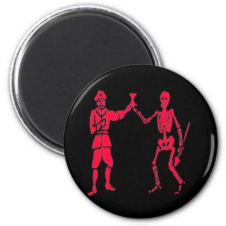 Bart Roberts #2- Red 6 Cm Round Magnet