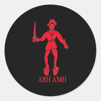 Bart Roberts #2-Red Round Sticker