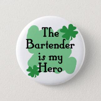 bartender 6 cm round badge