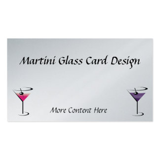 Bartender Business Card Martini Glasses
