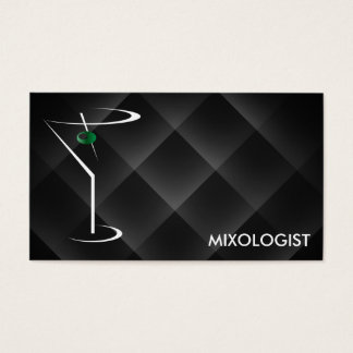 Bartender Business Cards Template Martini