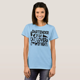 Bartender Cat Lover T-Shirt