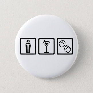 Bartender cocktail party 6 cm round badge