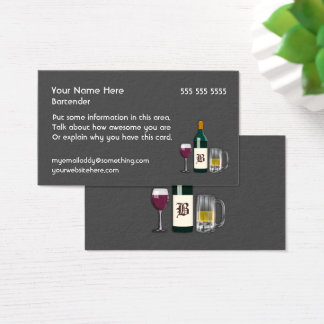 Bartender Dark Business Card