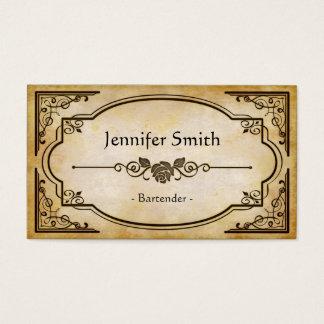 Bartender - Elegant Vintage Antique Business Card