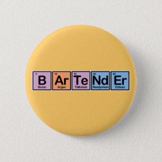 Bartender made of Elements 6 Cm Round Badge