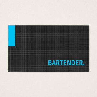 Bartender- Multiple Purpose Blue Business Card