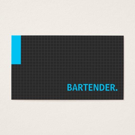 Bartender- Multiple Purpose Blue Business Card