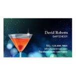 Bartender Nightclub Cocktail Bar Modern Pack Of Standard Business Cards