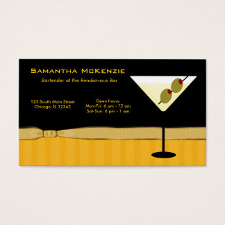 Bartender/Owner Bar Business Card