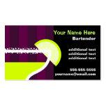 Bartender Pack Of Standard Business Cards