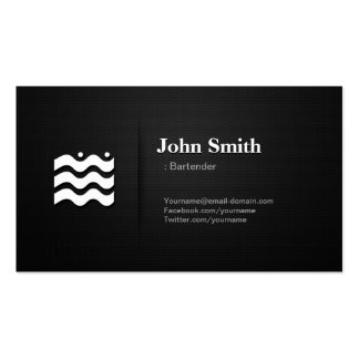 Bartender - Premium Changeable Icon Pack Of Standard Business Cards