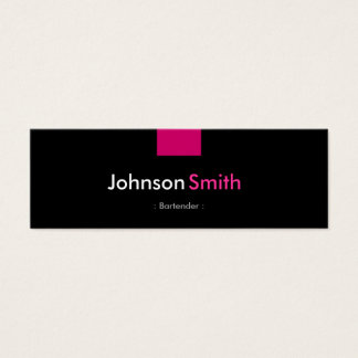 Bartender - Rose Pink Compact Mini Business Card