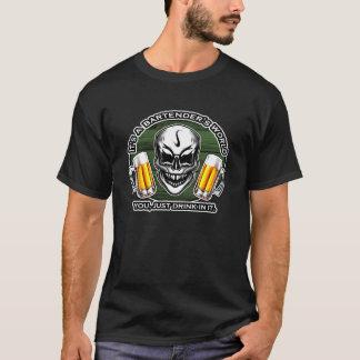 Bartender Skull 6: It's a Bartender's World T-Shirt