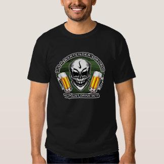 Bartender Skull 6: It's a Bartender's World Tshirt