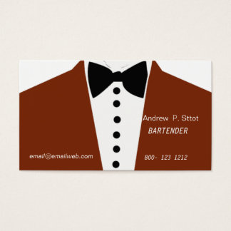 Bartender Stylish Design Wedding Suit Business Card