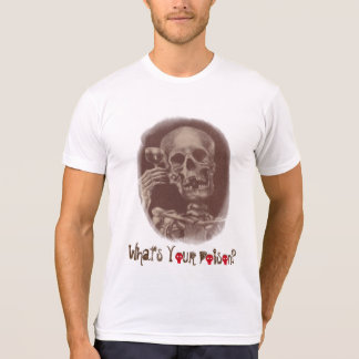Bartender What's Your Poison Skeleton Fun T-Shirts
