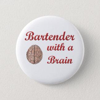 Bartender With a Brain 6 Cm Round Badge