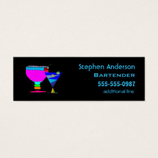 Bartenders Cocktails Business Cards