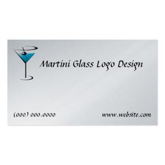 Bartending Business Card Martini Glass Logo