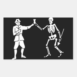 Bartholomew Roberts Pirate Flag Sticker