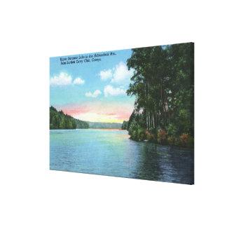 Bartlett Carry Club View of Upper Saranac Lake Canvas Print
