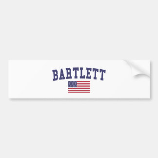 Bartlett TN US Flag Bumper Sticker