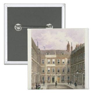 Bartlett's Buildings, Holborn, 1838 15 Cm Square Badge