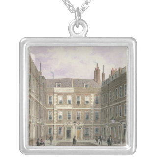 Bartlett's Buildings, Holborn, 1838 Silver Plated Necklace